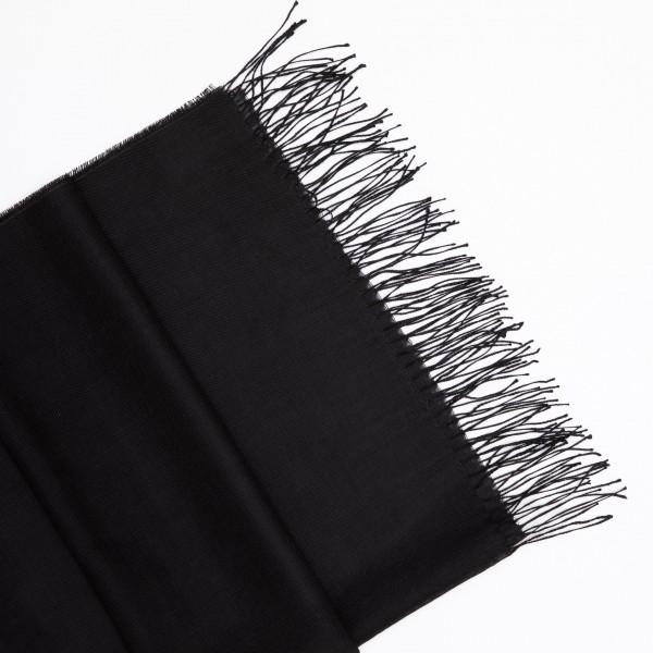 Juodos spalvos alpakos - šilko šalikas