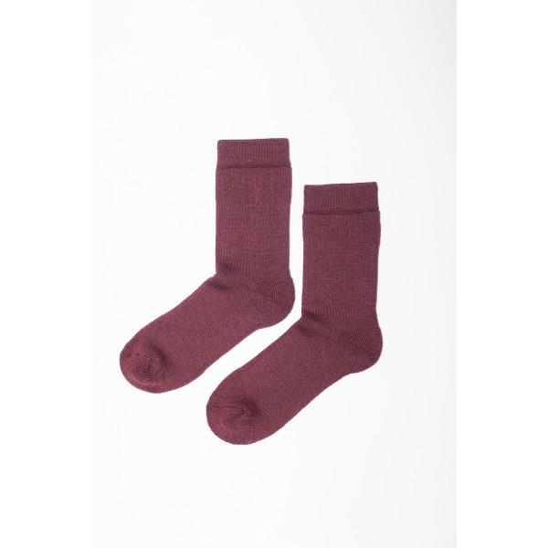 Bordo spalvos kojinės