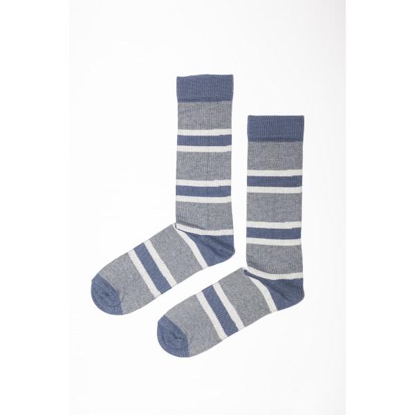 Mėlynos spalvos dryžuotos kojinės (ilgesnės)