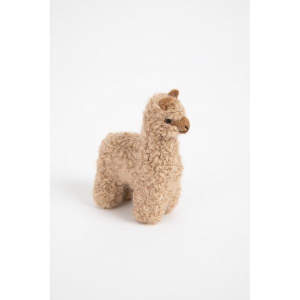 Alpakiukas ALPI - natūralus veltinis žaislas vaikui