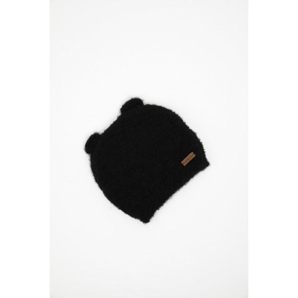 Kepurė-meškutis kūdikiui, juodos spalvos