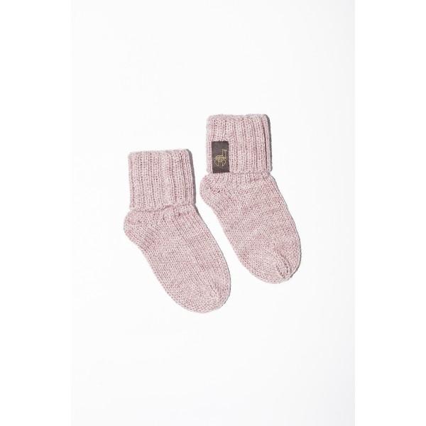 Rožinės spalvos kojinės kūdikiui