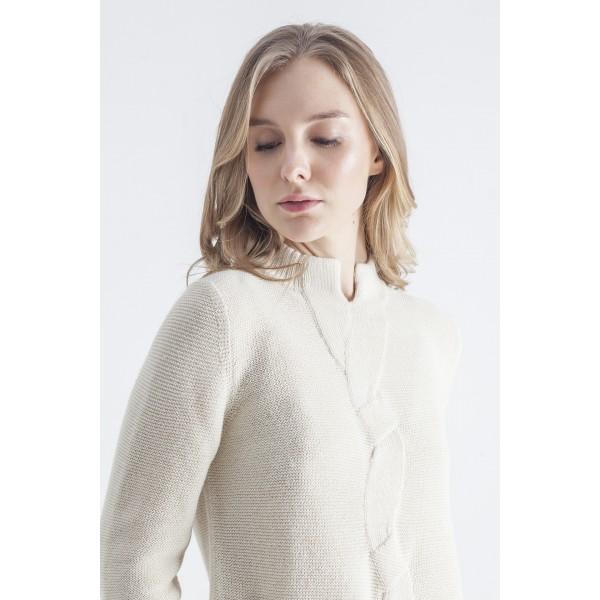 Baltos spalvos megztinis su pyne Giselle