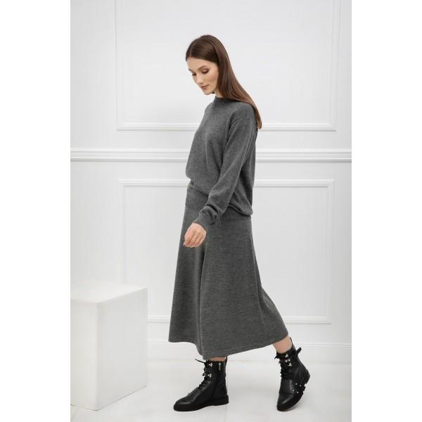 Klasikinis megztinis Alicia, pilkos spalvos