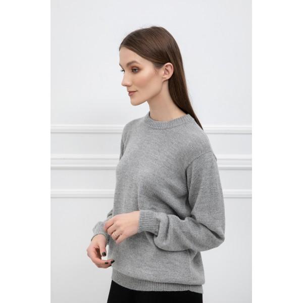 Klasikinis megztinis Alicia, šviesiai pilkos spalvos