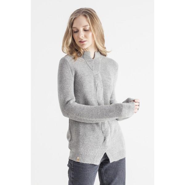 Pilkos spalvos megztinis su pyne Giselle