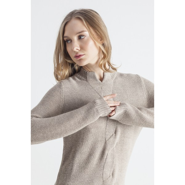 Rudos spalvos megztinis su pyne Giselle