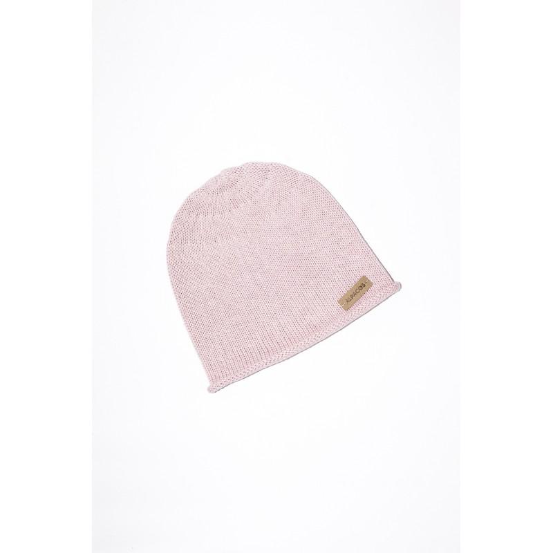 Rožinės  spalvos kepurė kūdikiui