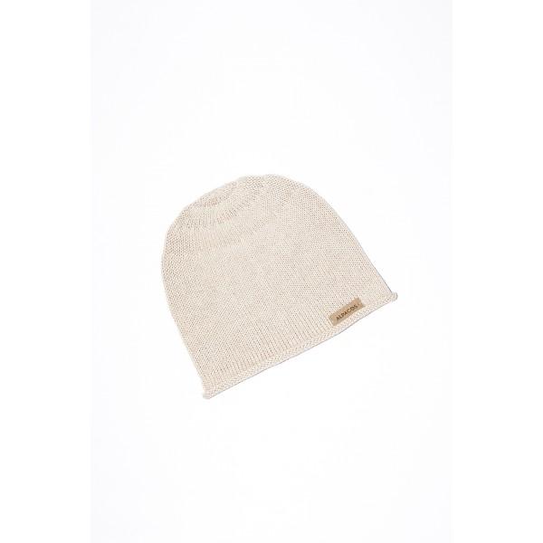 Smėlio  spalvos kepurė kūdikiui