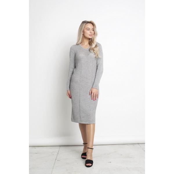Elegantiška suknelė ilgomis rankovėmis Naira, pilkos spalvos