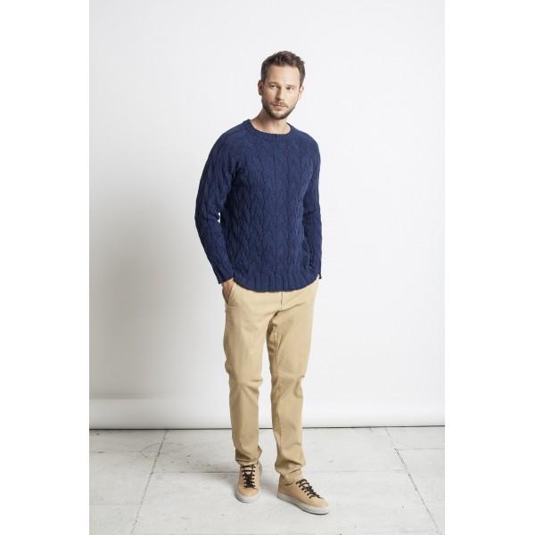 Pynių raštų megztinis Antony, mėlynos spalvos