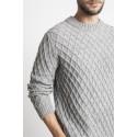 Rombų rašto megztinis Alex, šviesiai pilkos spalvos